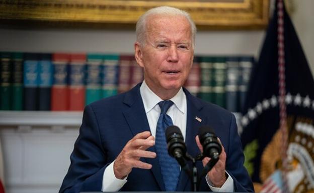 Joe Biden, at a press conference this Monday.