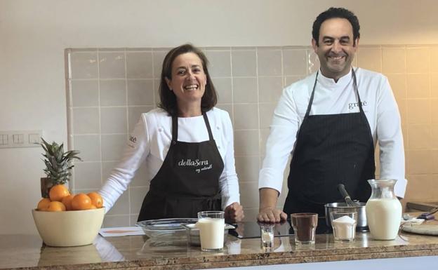 Angelines González y Fernando Sáenz.