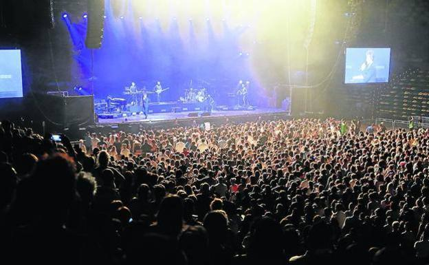 The heat from before.  Bisbal's huge concert at the Bilbao Arena in Miribilla.