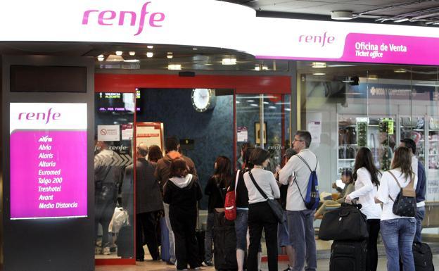 Una oficina de venta de Renfe./EFE