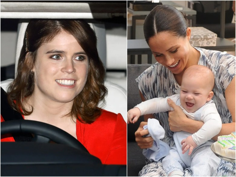princess eugenie, meghan and archie