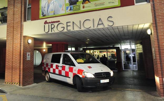 Emergency door of the Virgen de la Arrixaca hospital, in a file photo.