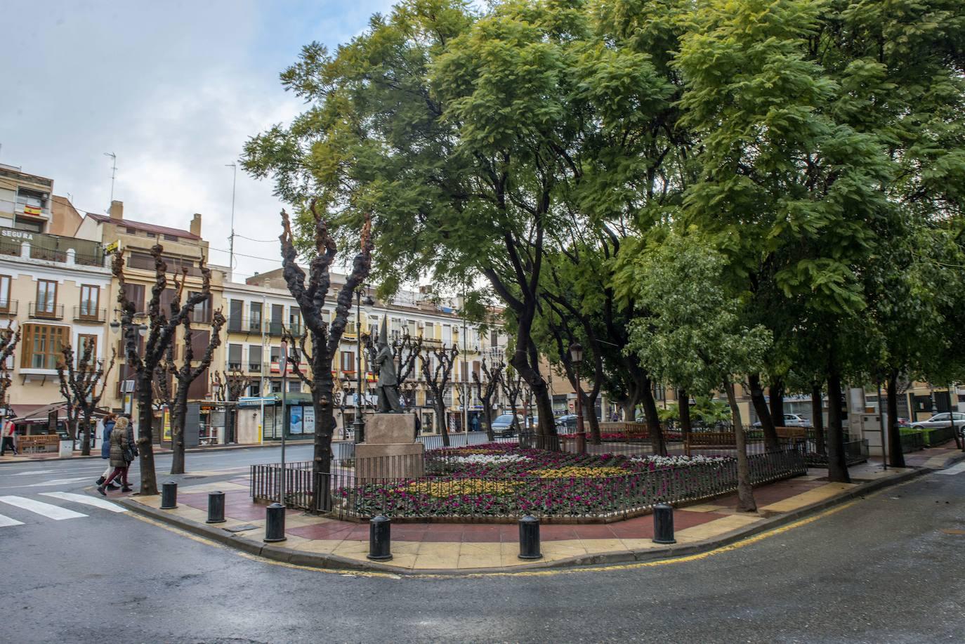 The Plaza de Camachos in Murcia, this Monday.