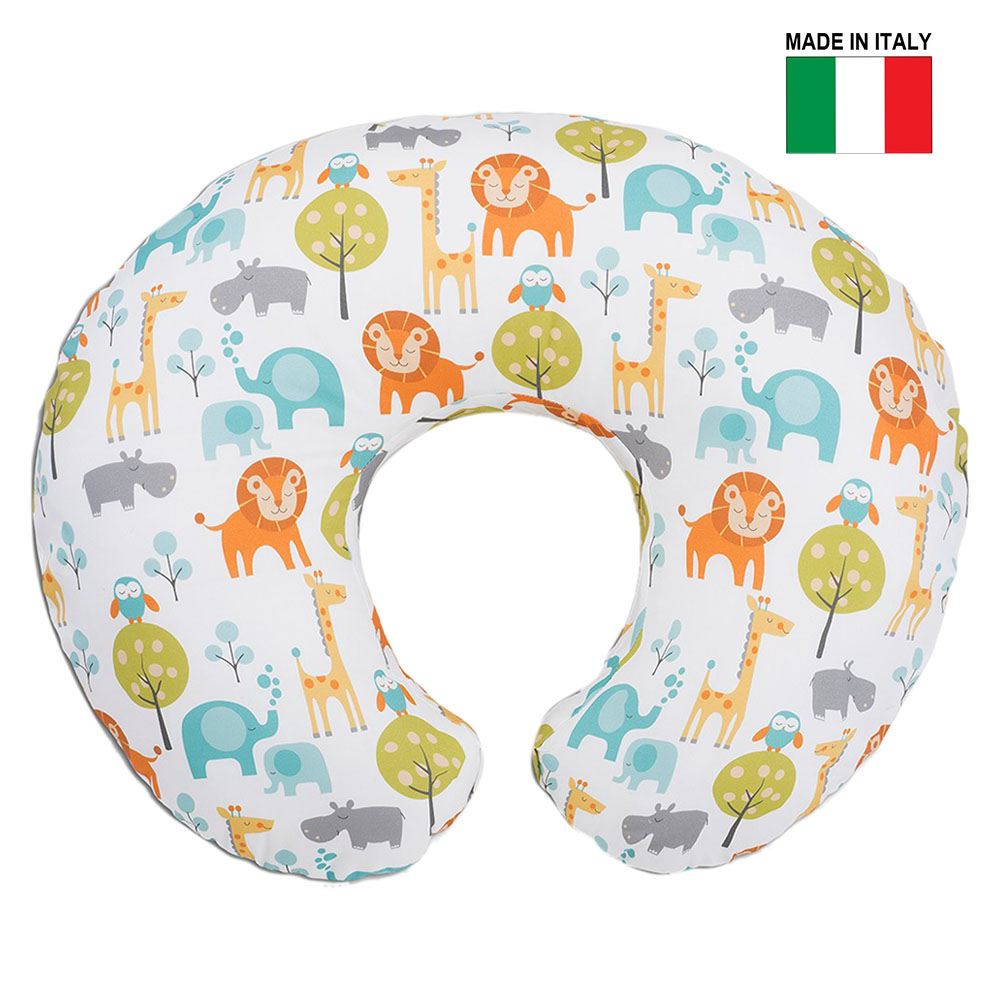 chicco boppy pillow with cotton slipcover peaceful jungle