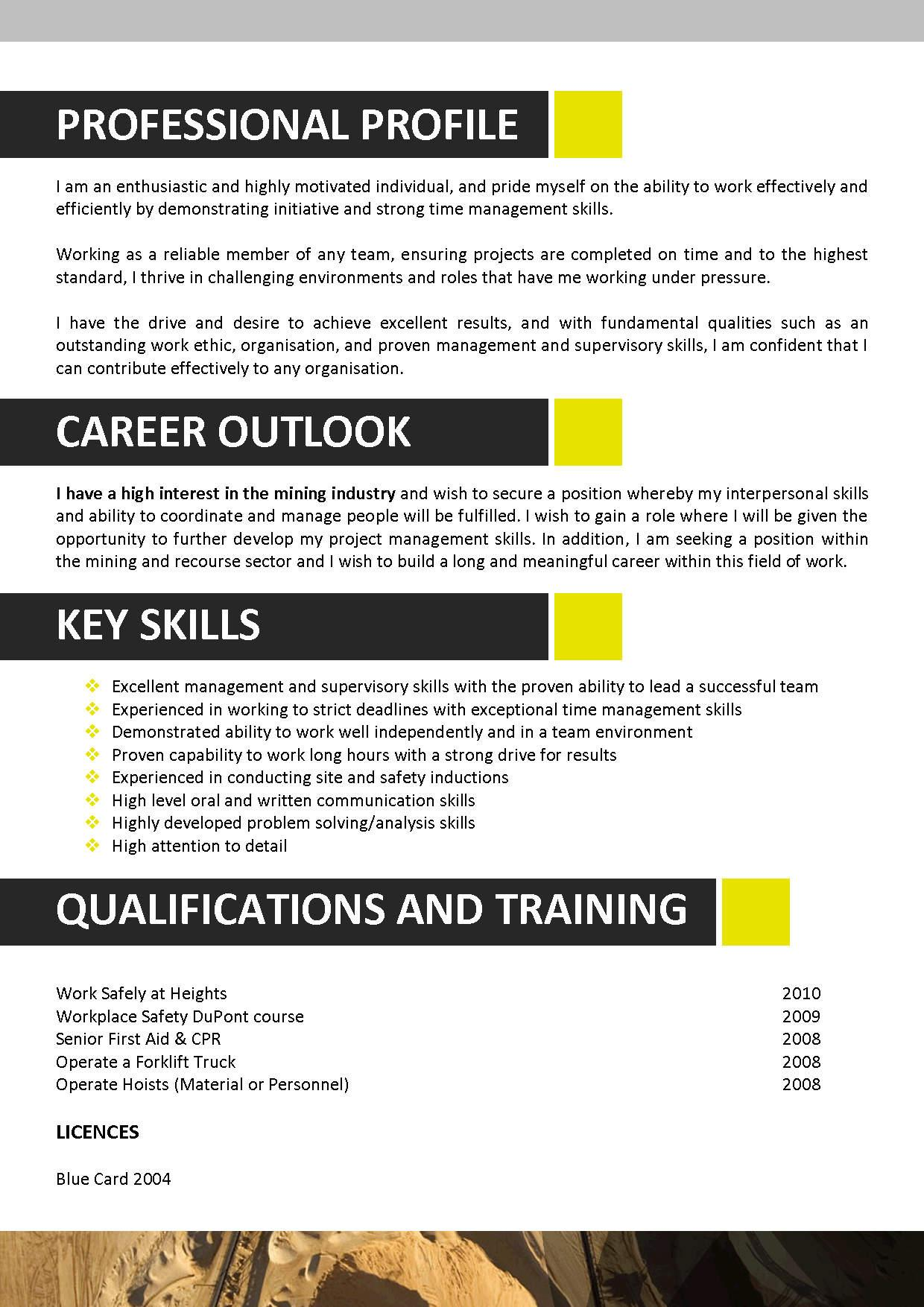 resume template mining resume template 004 this resume template is