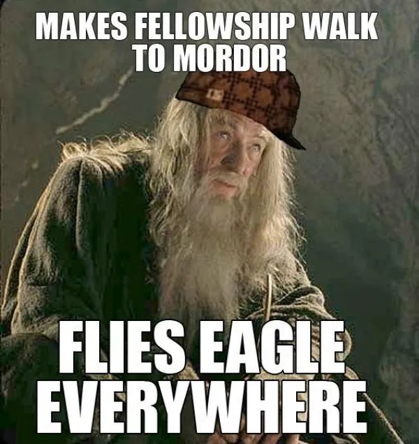 Lord Of The Rings 10 Hilarious Fellowship Of The Ring Logic Memes