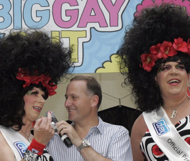 Bimbo And Buffy Camp It Up With Prime Minister John Key At Last Years Big Gay