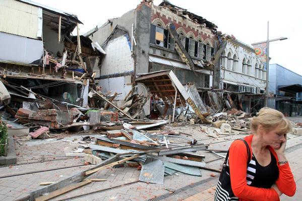Cashel Street after the 22 Feb quake