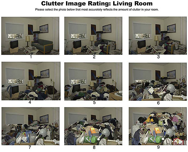 Clutter Image rating : living room