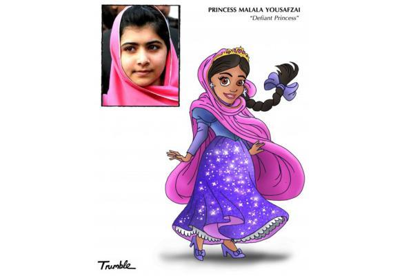 Feminist icons as Disney Princesses