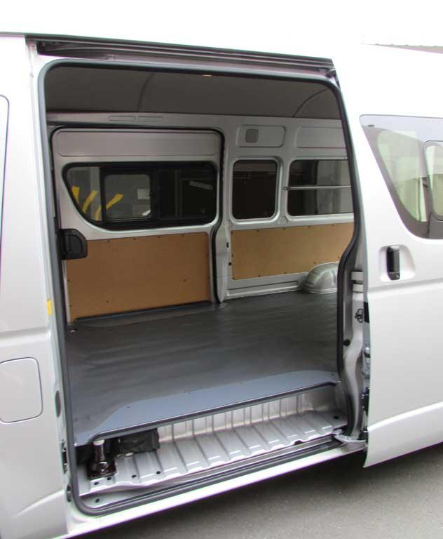 Load Carrier Access To The Hiace S Area Is Via Side Doors And Rear