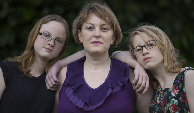 Aucklander Denise Astill with her twin daughters Jazmyn and Natasha, 12