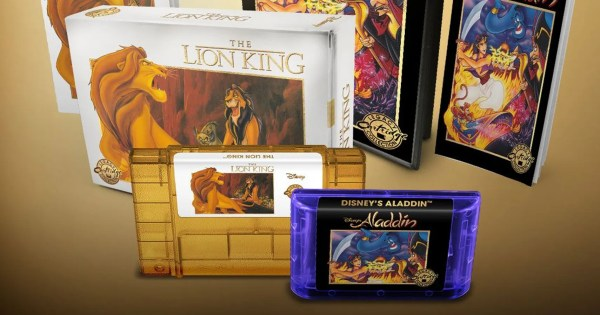 Lion King And Aladdin Remasters Get Beautifully Retro Collector