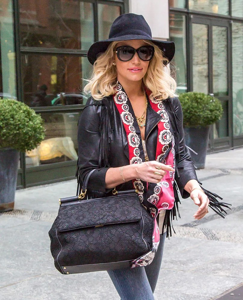 4e56a4fd7e2 Jessica Simpson has so many bags that she would never have to repeat  wearing them. One of her most beloved bags is the Dolce & Gabbana Sicily Bag .