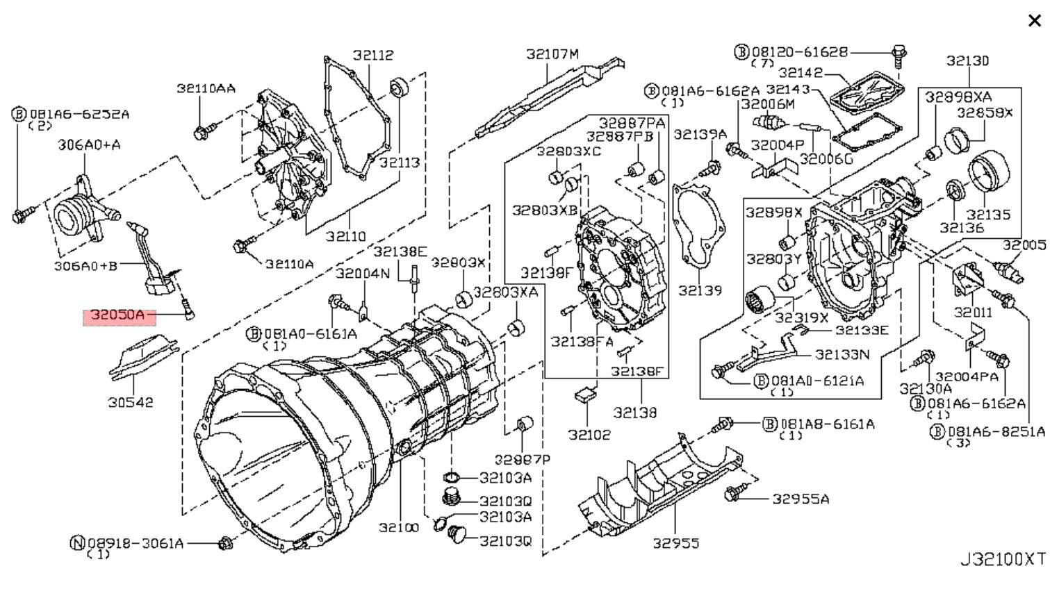 350z Nissan Oem Transmission Bolt