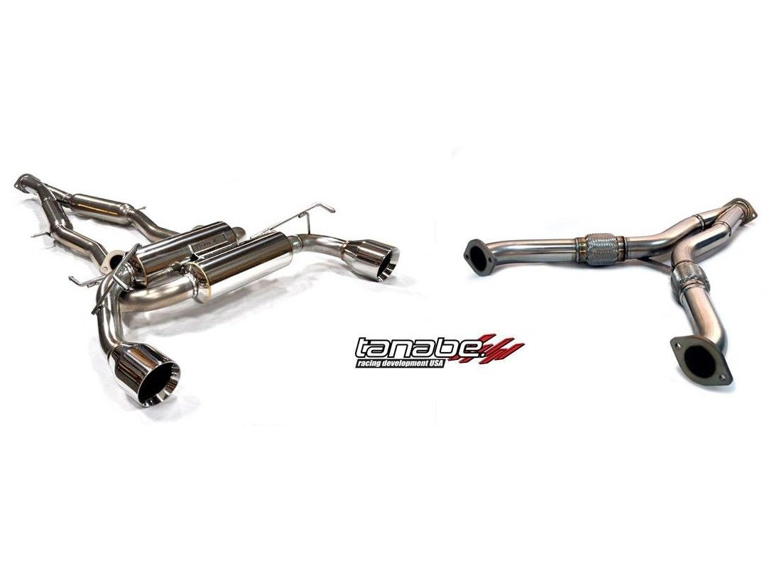 370z Tanabe Medallion Touring Dual Muffler C B Y Pipe