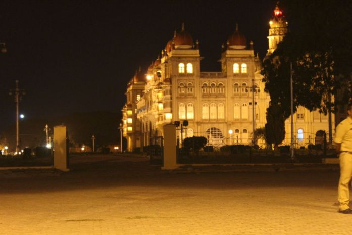 Mysore Palace at night - 150 kms from Bangalore