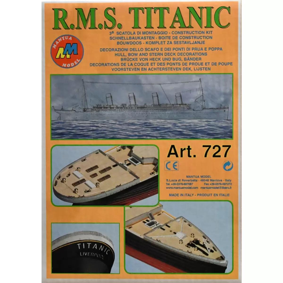 Titanic Kit No.3 hajómakett építőkészlet Mantua