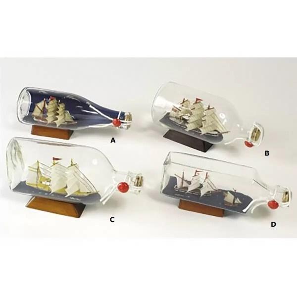 Hajó palackban 20 cm Hajómakett üvegben