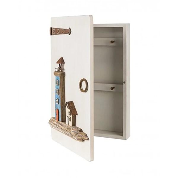 Világítótornyos kulcsos szekrény Szekrény