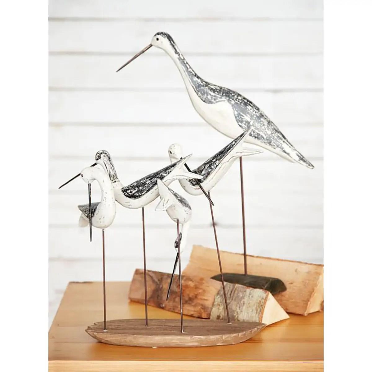 Fa fém vízimadár 45cm Mókás figurák, szobrok