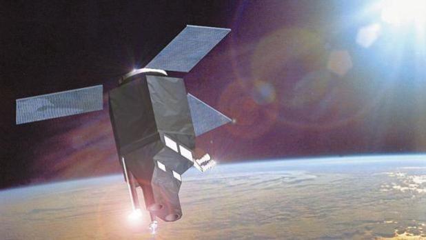 Recreación del satélite Ingenio en el espacio