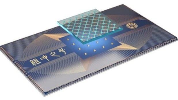 Esquema de diseño del procesador cuántico Zuchongzhi