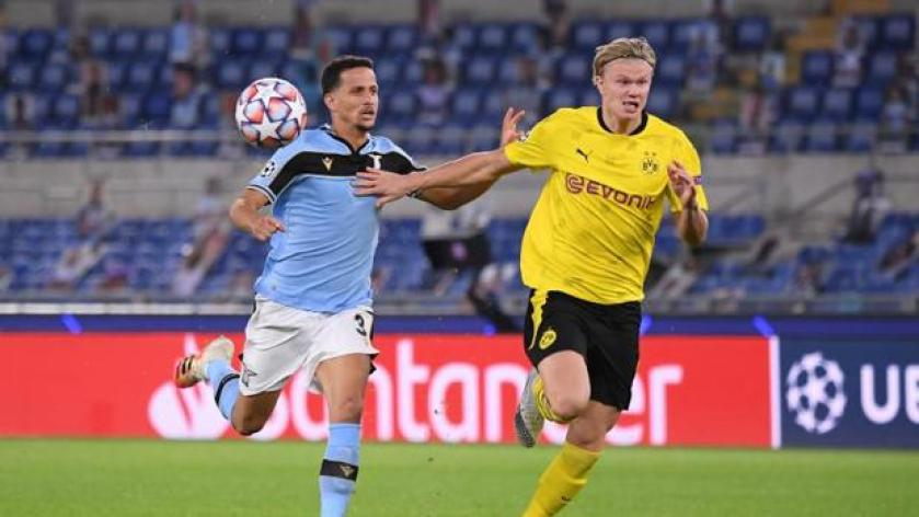 Lazio 3 - Borussia Dortmund 1: El Lazio desactiva a Haaland
