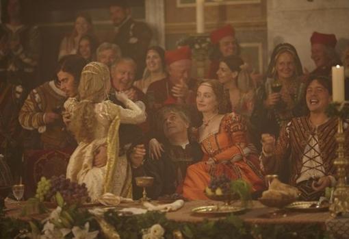 Imagen del capítulo «El Banquete de las Castañas», de la serie estadounidense «The Borgias» (2011)