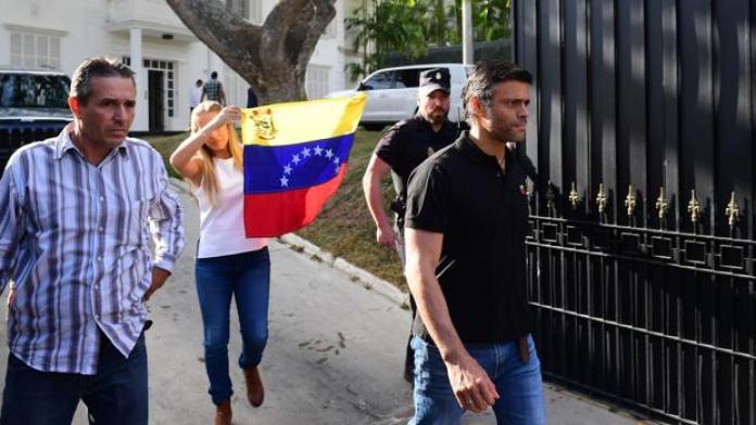Leopoldo López ya está con su familia en Madrid