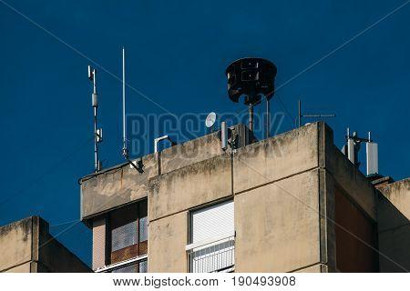 Civil Defense Siren On Image Photo