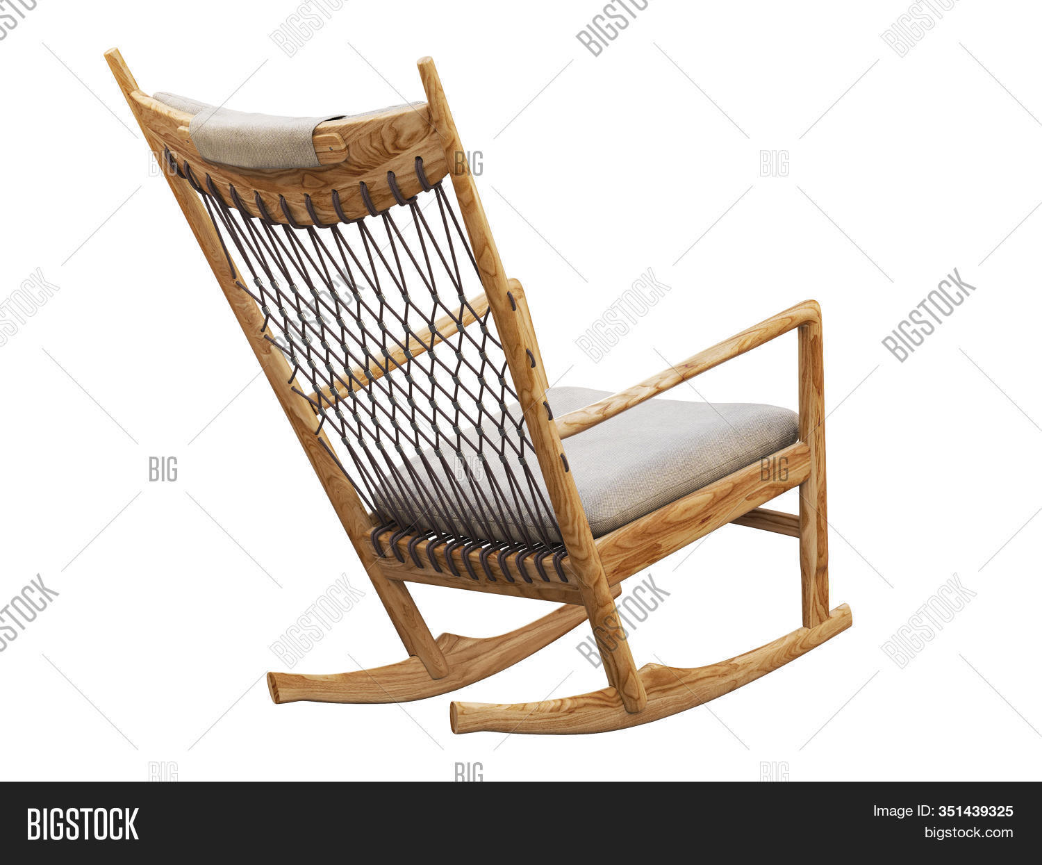 Wooden Rocking Chair Image Photo Free Trial Bigstock