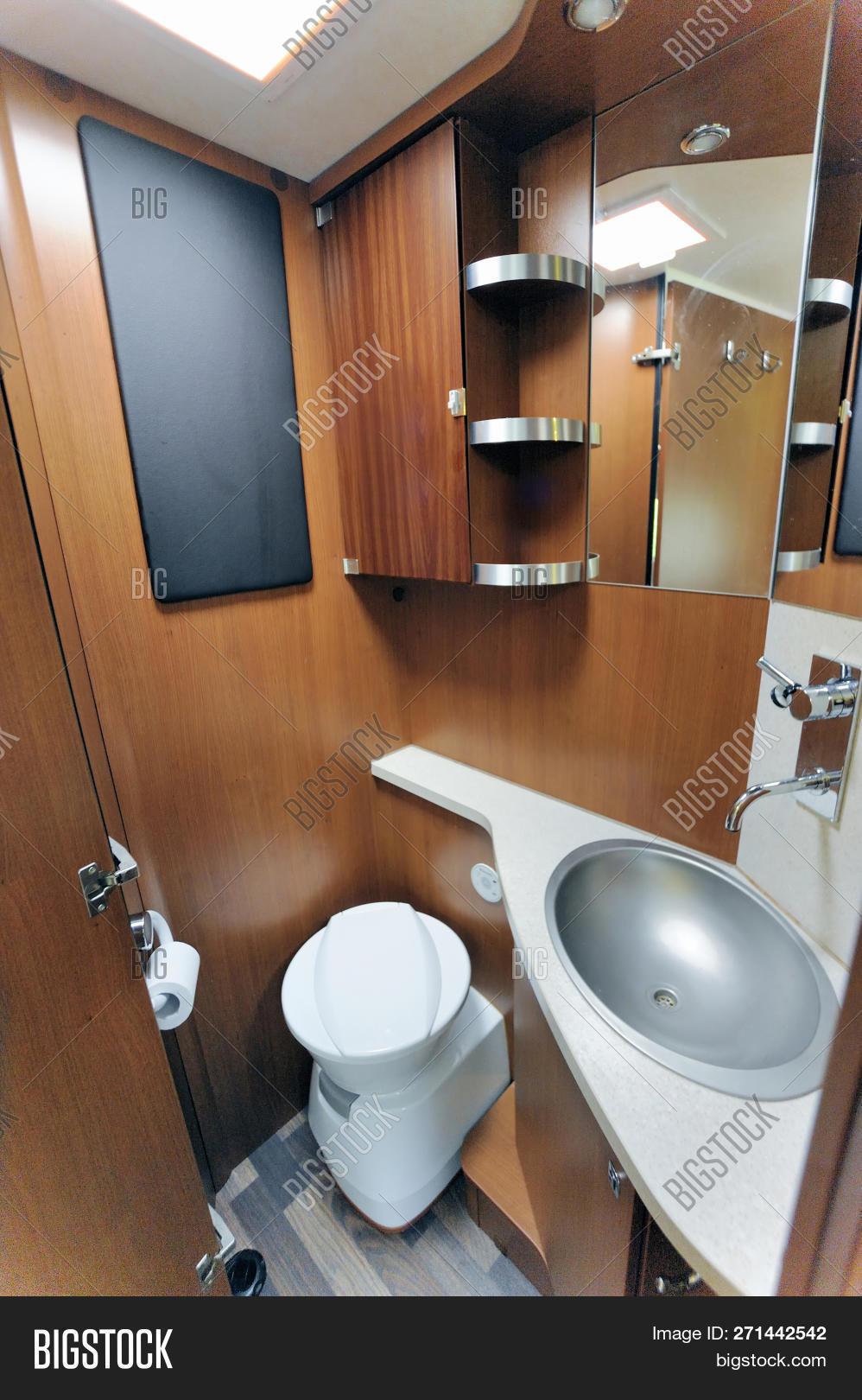 inside rv washroom image photo free