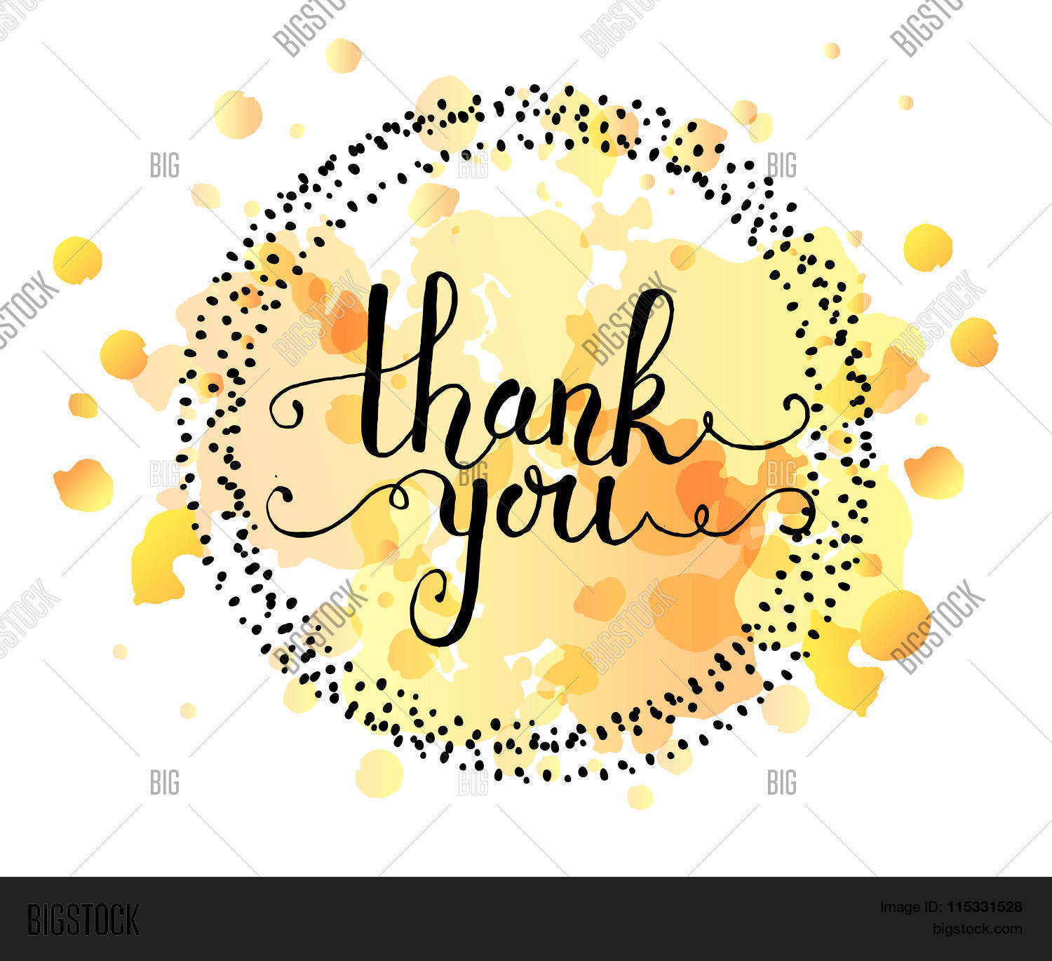 Hand Sketched Thank Vector Photo Free Trial Bigstock