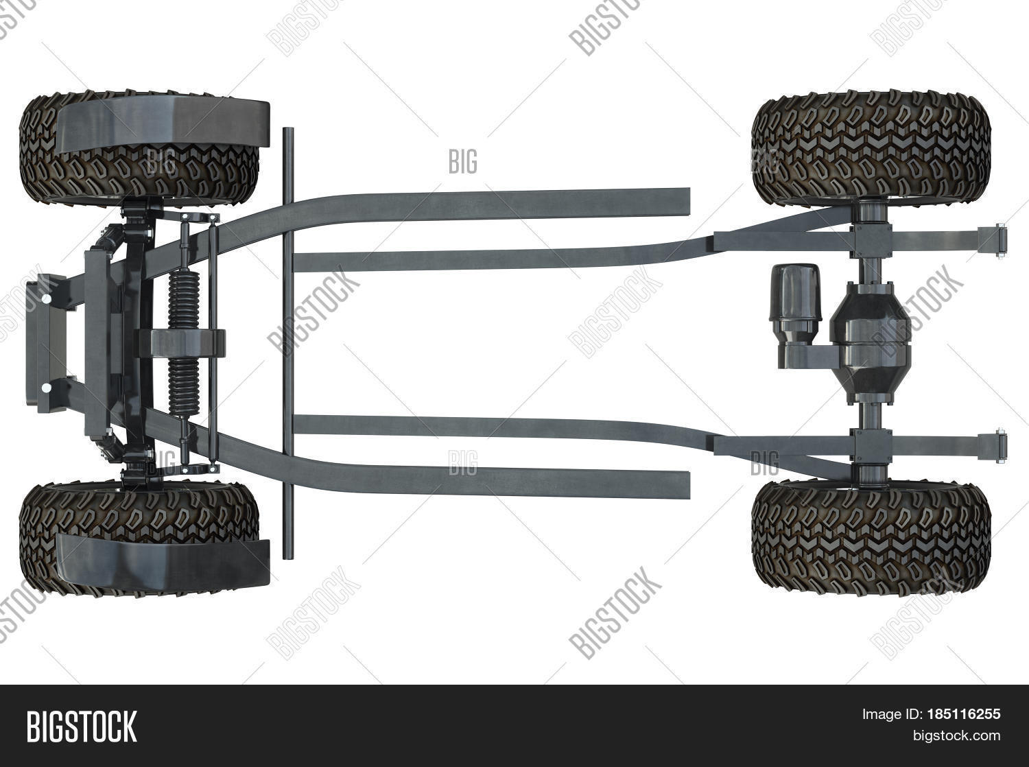 Golf Car Chassis Wheels Top View Image Amp Photo