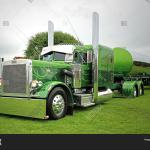 Green Peterbilt 359 Image Photo Free Trial Bigstock