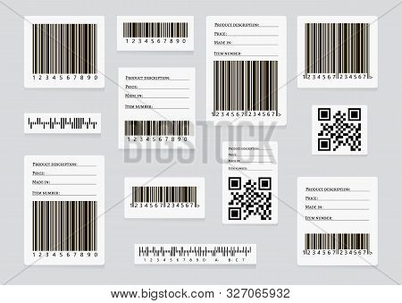 Barcode Sticker Set Vector & Photo (Free Trial) | Bigstock