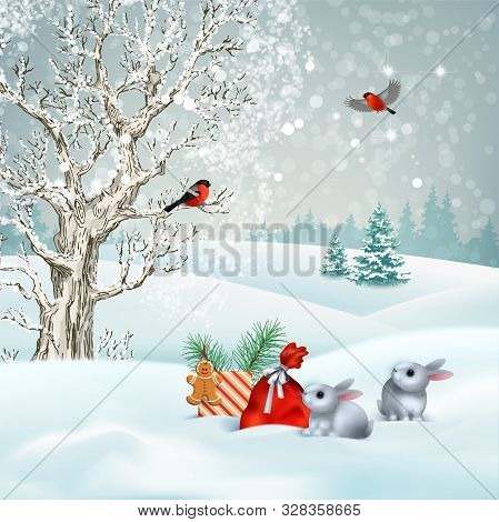 Christmas Winter Vector Photo Free Trial Bigstock