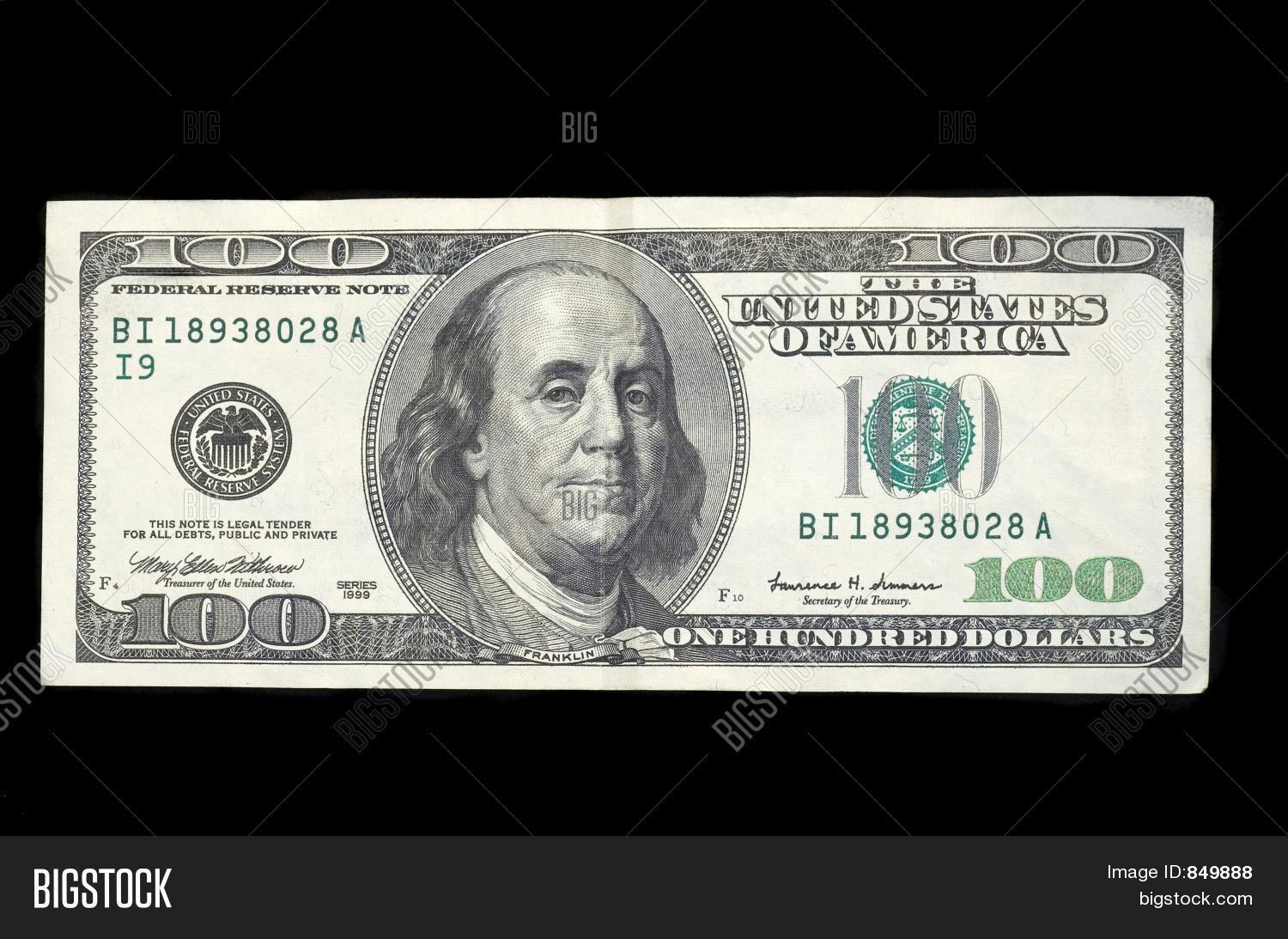Hundred Dollar Bill Image Amp Photo Free Trial