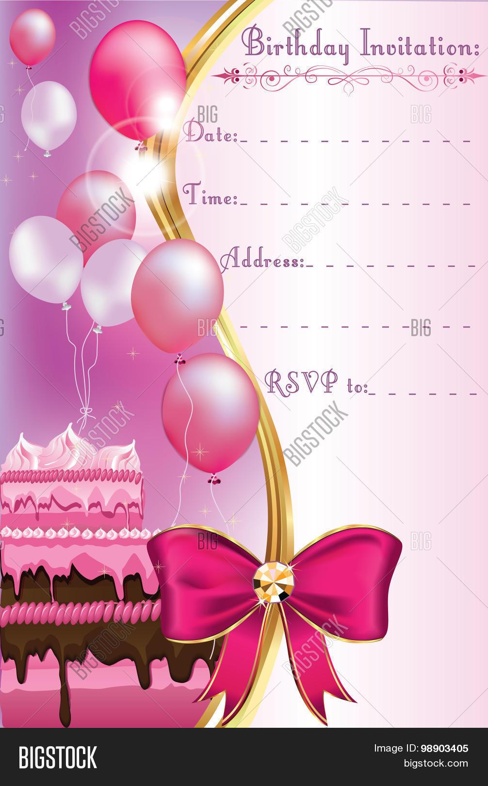 birthday invitation vector photo