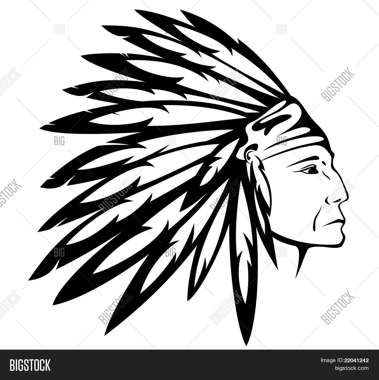 Indian Chief Vector Amp Photo