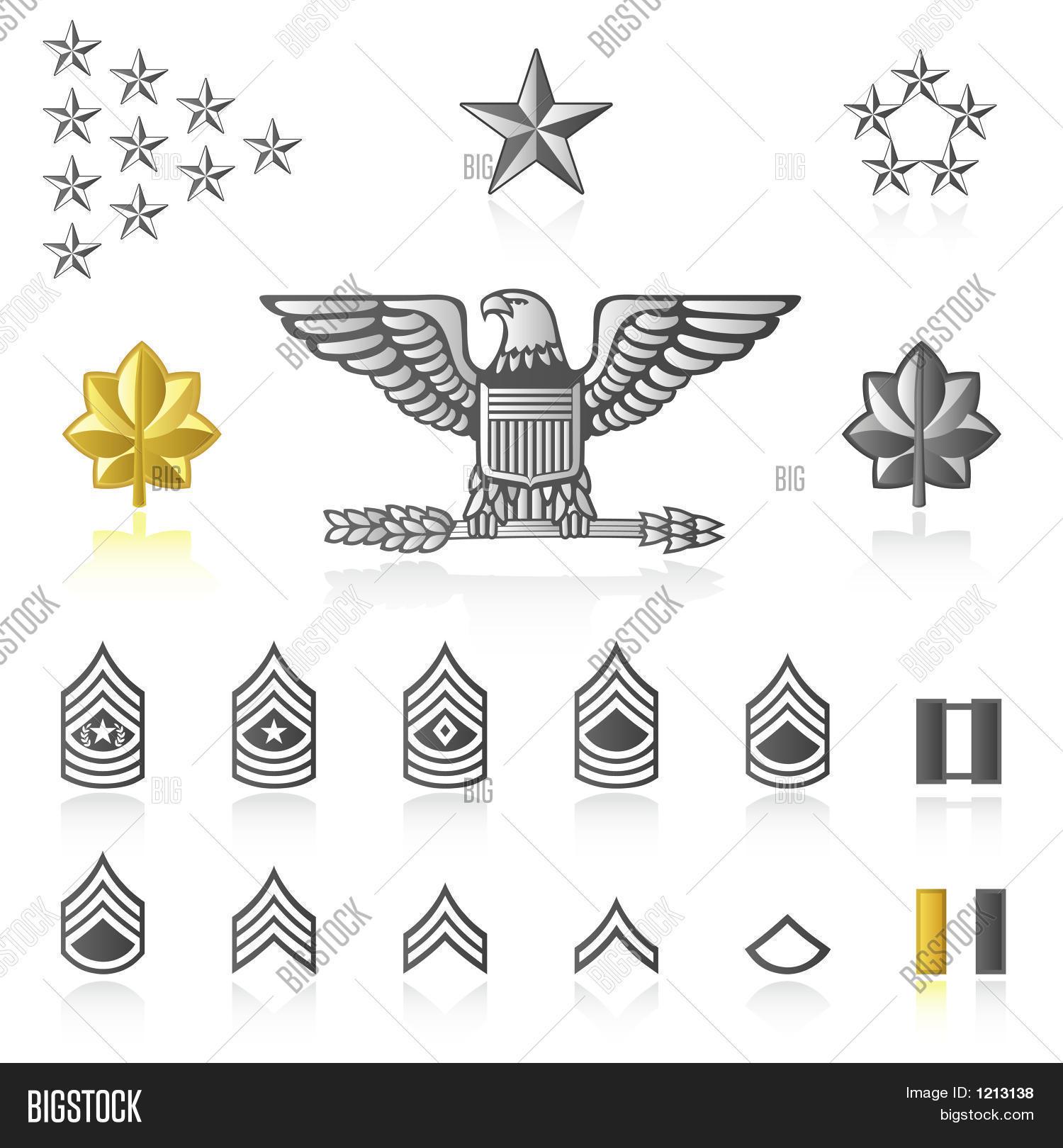 Rank Icons Army Military Image Amp Photo