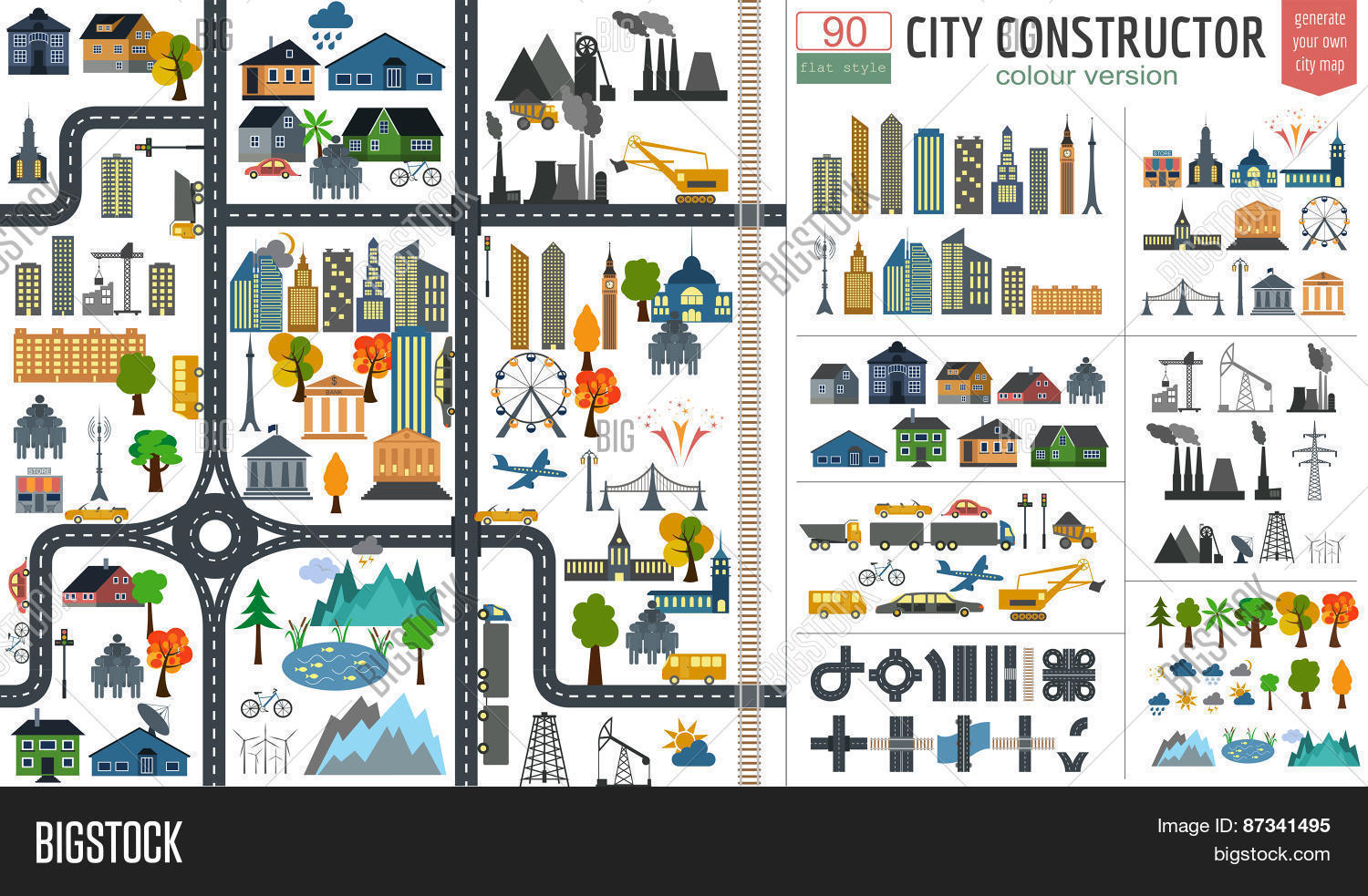 City Map Generator City Map Example Elements For