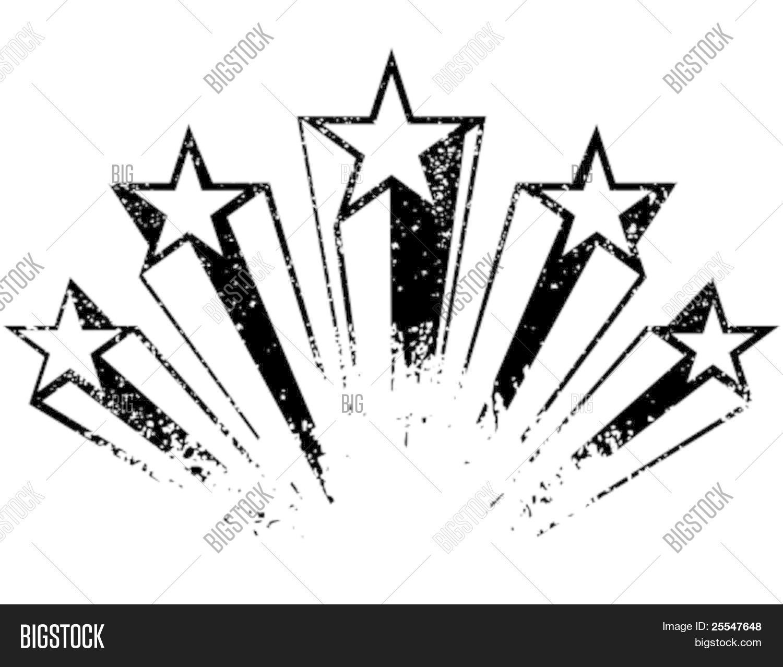 Shooting Stars Vector Vector Amp Photo