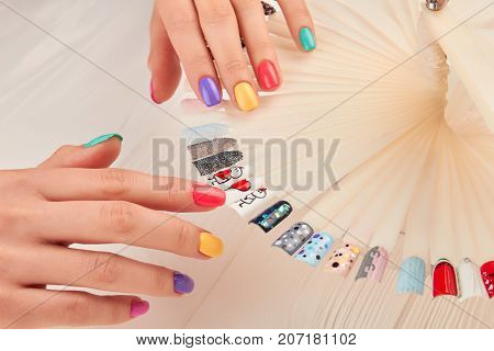 Stylish Manicure And Nail Art Sles Beautiful Hands With Pastel Summer