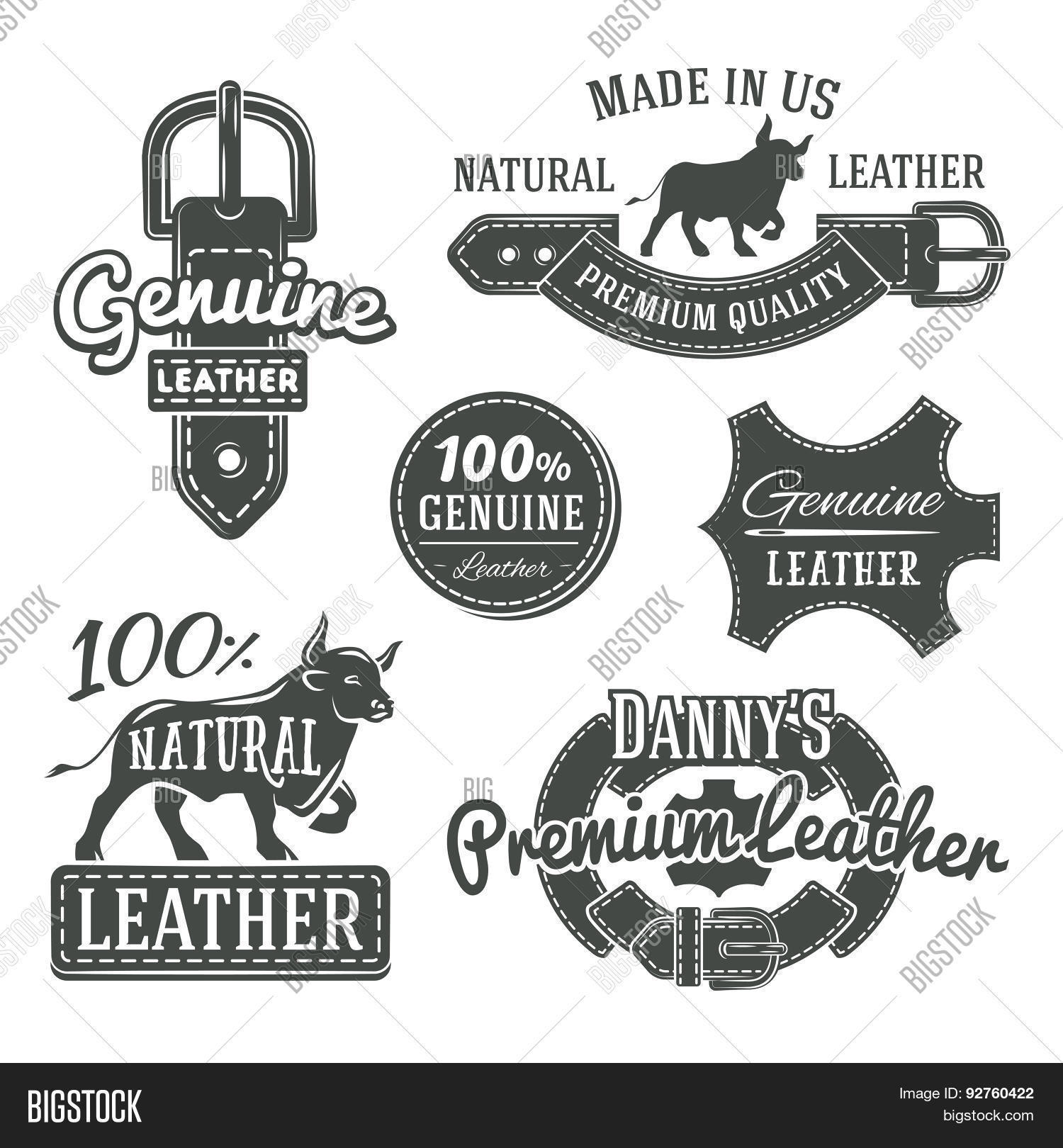 Set Of Vector Vintage Belt Logo Designs Retro Quality