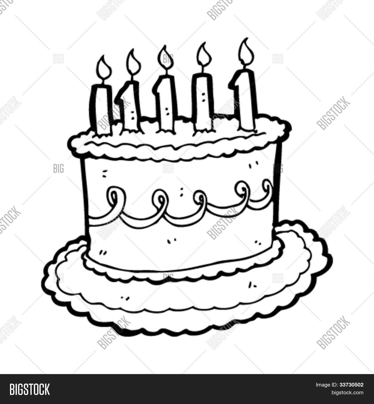 Cartoon Birthday Cake Stock Vector Amp Stock Photos