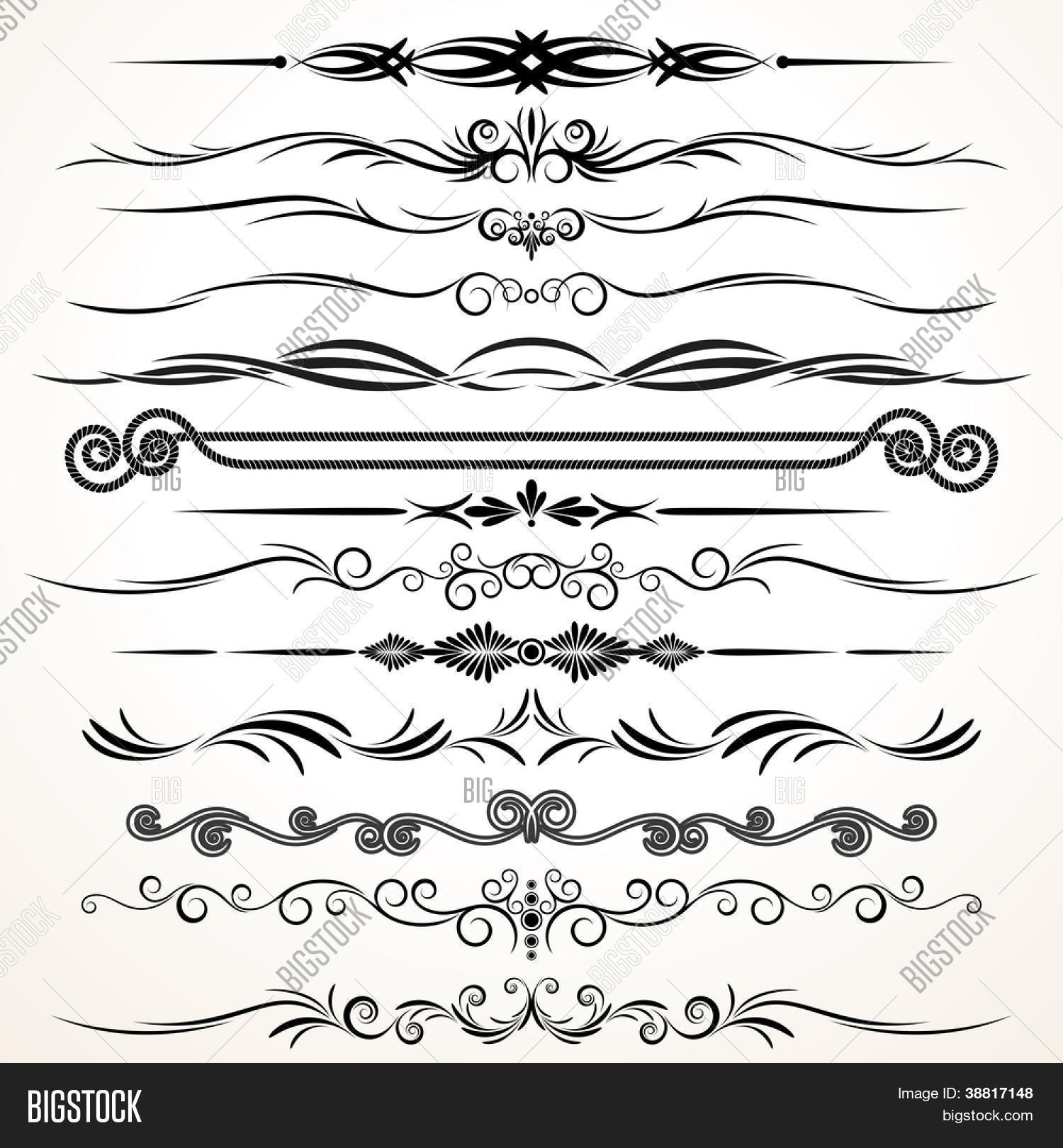 Ornamental Design Elements Ornamental Lines To Embellish