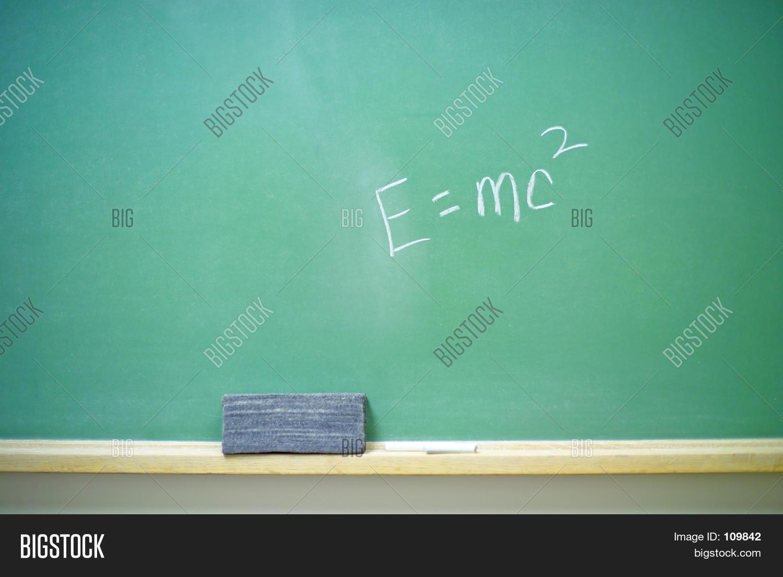 E=mc2 On Chalkboard 2 Image & Photo | Bigstock