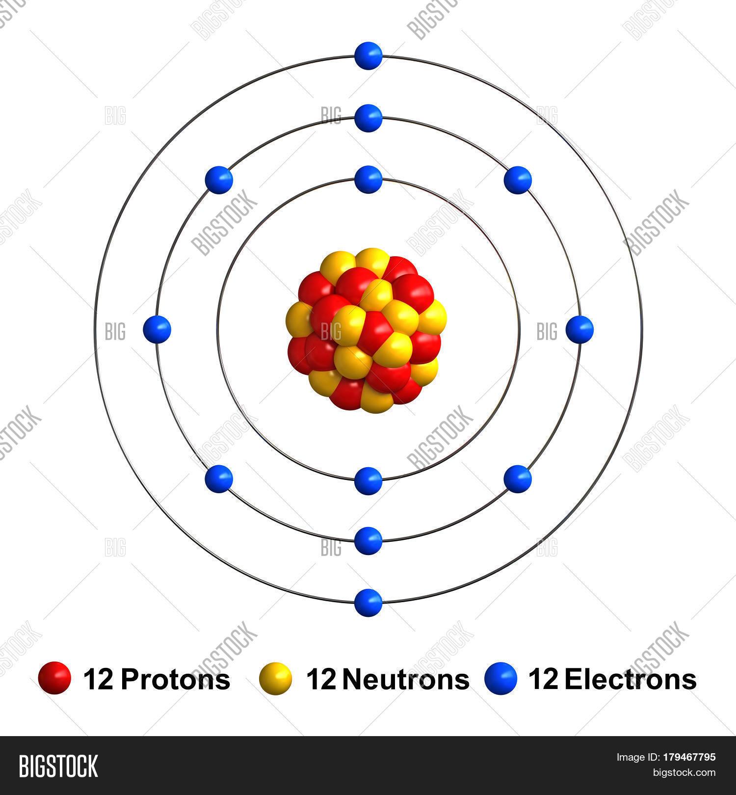 3d Render Atom Structure Magnesium Image Amp Photo